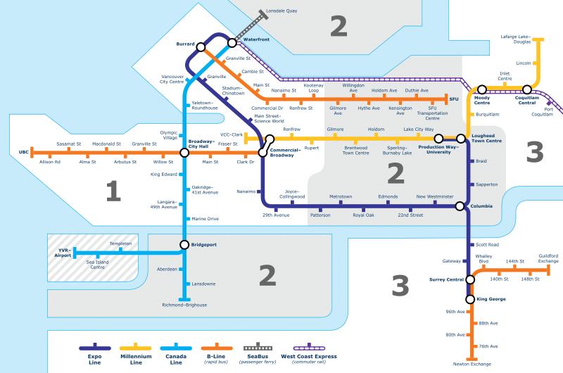 加拿大打工遊學費用-溫哥華skytrain